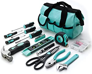 Her Hardware Home Repair Basic Tool Set - For All Your DIY Projects Around the House/Apartment/Office/Dorm!