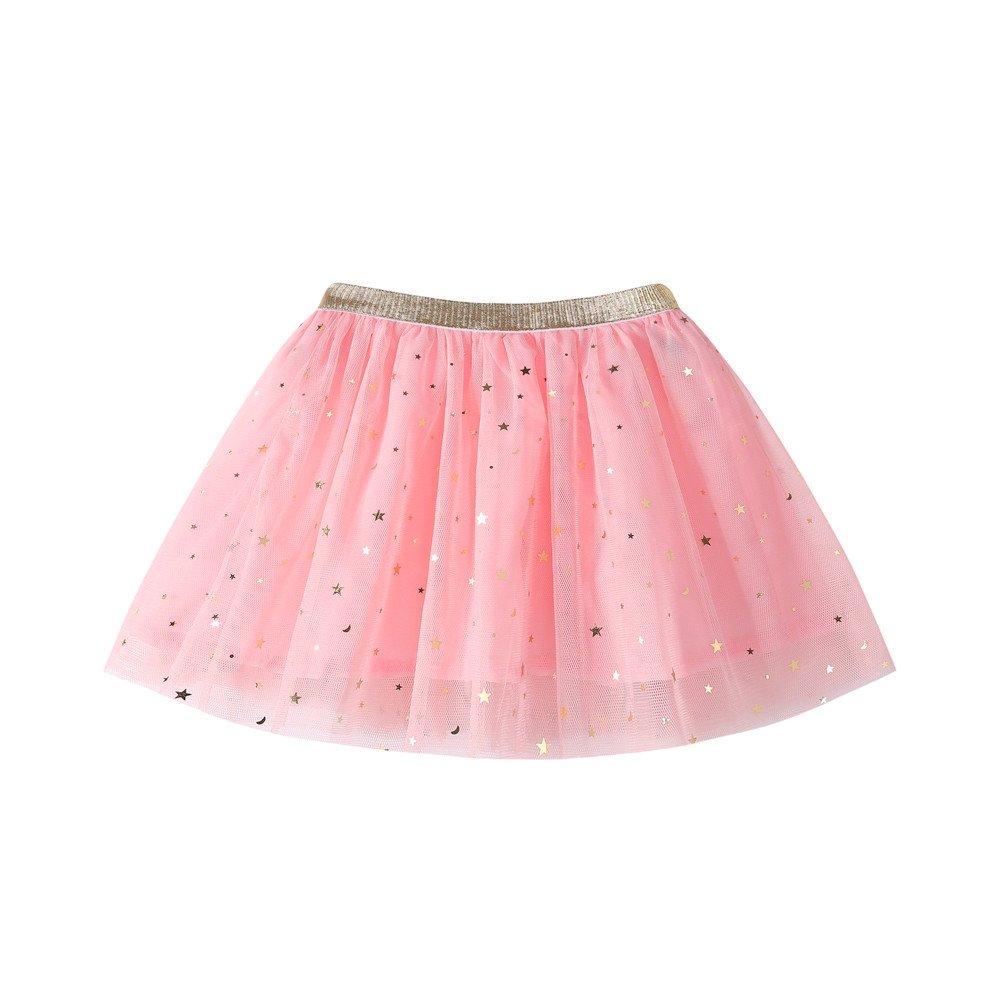 feiXIANG Ropa Infantil Niñ a Princesa Vestido Estrella Lentejuelas Princesa Tutu Fiesta de la Moda Falda de Baile Tutu Disfraces Negro Cinco Cyber Lunes