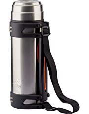 Jirra Stainless Steel Vacuum Insulated Flask | Thermos Flask for Hot & Super Chilled Drinks with Removable Shoulder Strap - 60 ounce | Double Wall | BPA Free