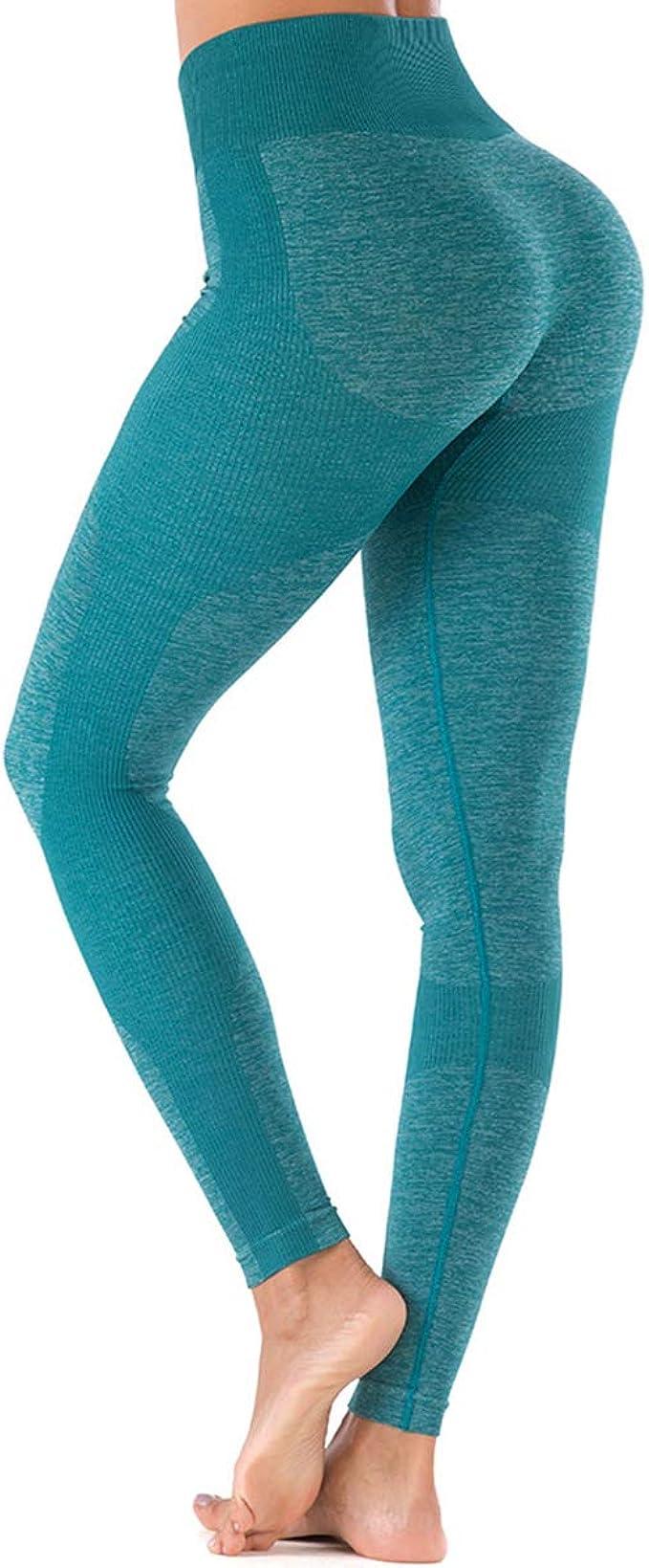 Damen Hohe Taille Yoga Leggings Nahtlos Ultra Stretch Gym Workout Pants