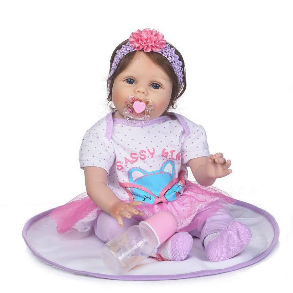 IIWOJ Reborn Baby Doll 55m Big-Eyed Silikonpuppe Fotografie Requisiten