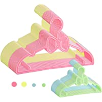 O³ Perchas Bebe – Juego de 20 – Perchas Infantiles –Rosa/Amarillo- Para Niños y Bebés - 27 cm de largo