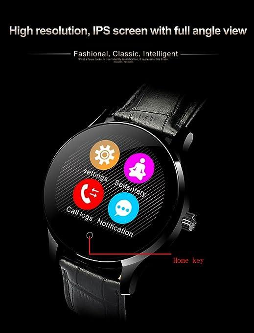 RG Inteligente Reloj Bluetooth rastreador de ejercicios Compatible con Android IOS, caja de regalo incluida