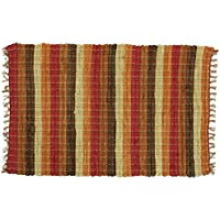Lido Red Striped Rag Rug, 2 x 3