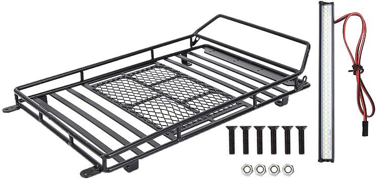 Rc Auto Dachträger Metall Dachträger Gepäckträger Mit Led Licht Für Axial Scx10 1 10 Rc Crawler Car Spielzeug