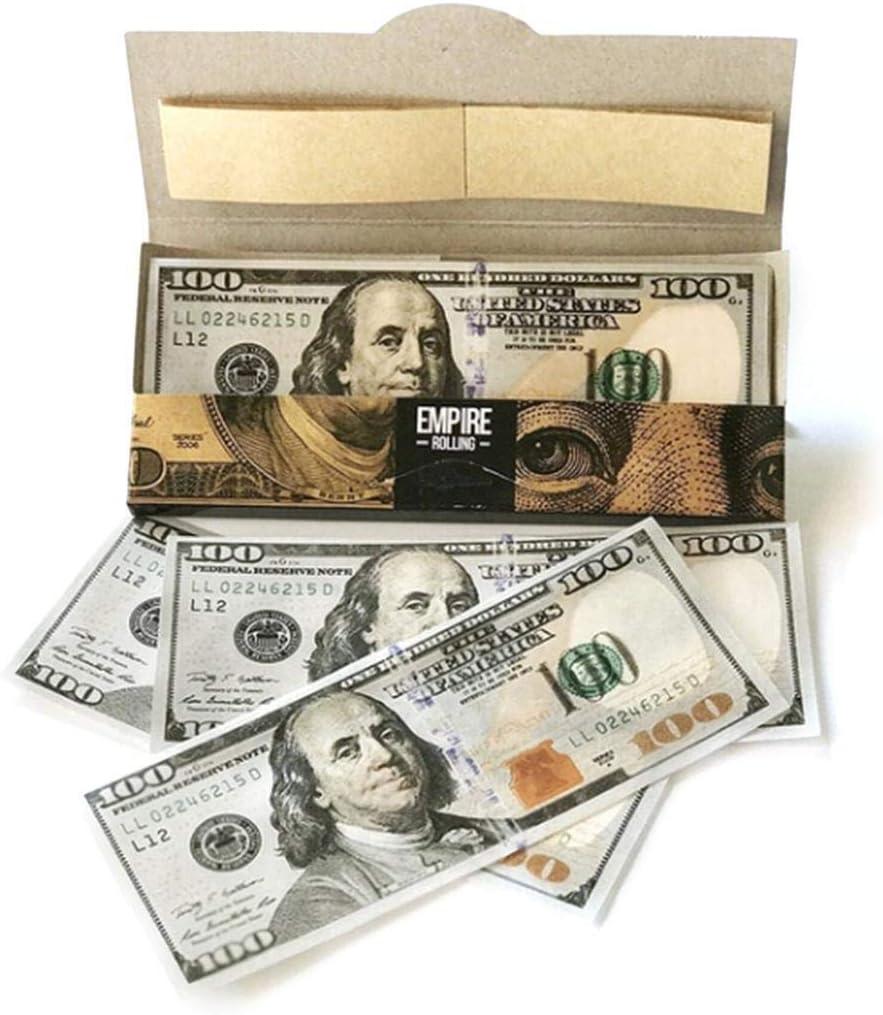 Lonlier Papel de Liar para Fumar Papel de Cigarrillo Billete de 100 Dólares: Amazon.es: Salud y cuidado personal