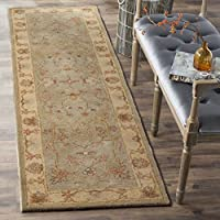 Safavieh Antiquities Collection AT62A Handmade Traditional Light Grey and Beige Runner (23 x 8)