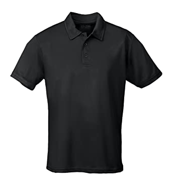 Just Cool Breathable Performance Wicking Polo Shirt: Amazon.co.uk ...