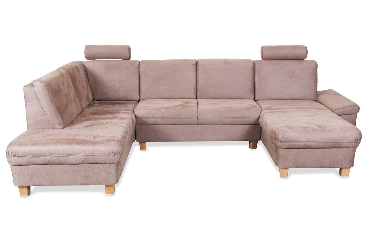 Sofa Ada Alina Wohnlandschaft 7411 Braun Luxus Microfaser Braun