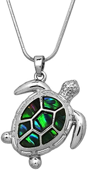 """18/"""" or 24/"""" Inch Necklace /& Tortoise Pendant Charm Animal Lovers Gift Souvenir"""