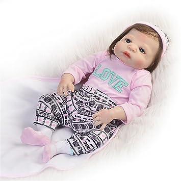 Amazon.es: Muñeca de bebé reborn realista de 57 cm de vinilo de ...