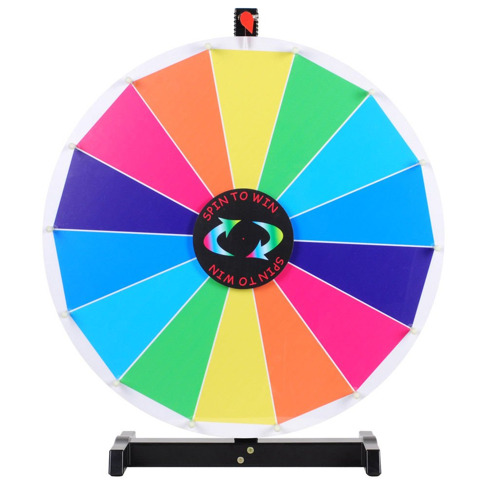 Generic NV_1008004057_YC-US2 <8&40571> how Winze Wheel of Prize Wheel of 24'' Editable Fortune Spin Game Dry Erase Color Trade Show Win 24'' Editabl