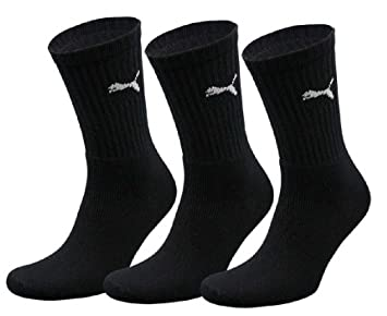 MENS PUMA CREW SOCKS 3 PAIRS NAVY UK