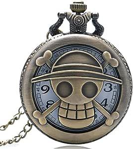 Reloj de Bolsillo de una Pieza, Estilo de Bronce, Reloj de Bolsillo para Hombre, Reloj de Bolsillo de Regalo: Amazon.es: Relojes