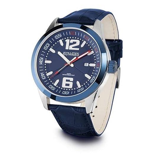 DUWARD Reloj para Hombre Analógico Cuarzo japonés con Correa de Piel de Vaca D85410.75: Amazon.es: Relojes