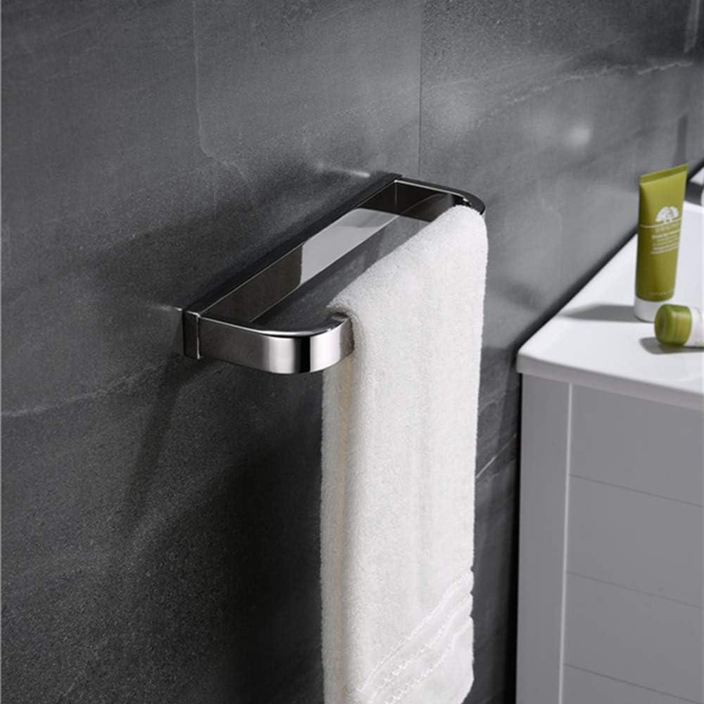 Toallero de acero inoxidable montaje en pared Melairy SUS304 para ba/ño y ba/ño acabado plateado cromado