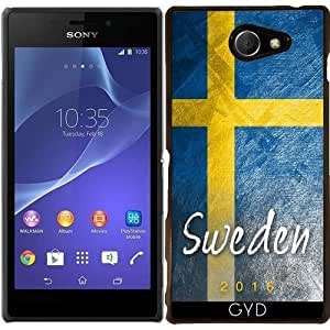 Funda para Sony Xperia M2 - Bandera De Suecia by Julien Kaltnecker