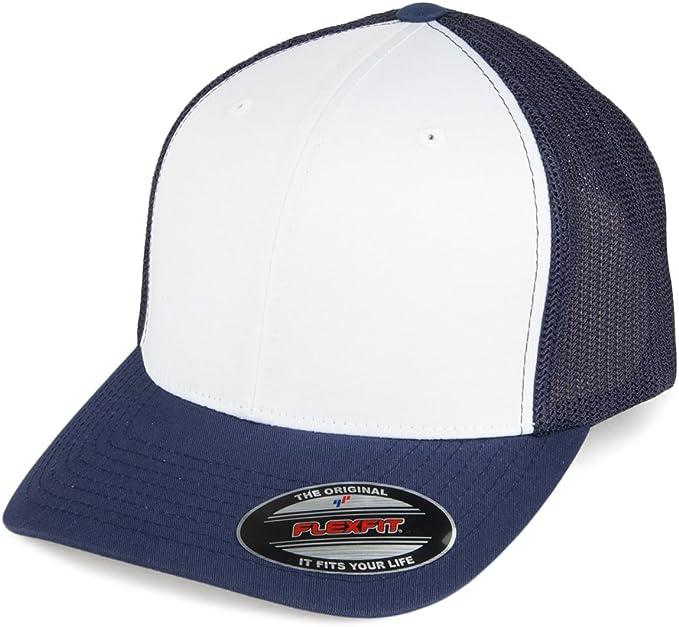 Village Hats Gorra Trucker White Front de Flexfit - Azul Marino ...