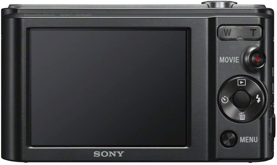 Black Renewed Sony DSCW800//B 20.1 MP Digital Camera