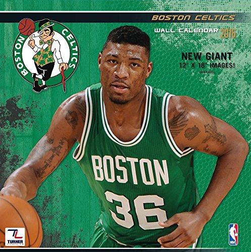 "Turner Boston Celtics 2016 Team Wall Calendar, September 2015 - December 2016, 12 x 12"" (8011870)"