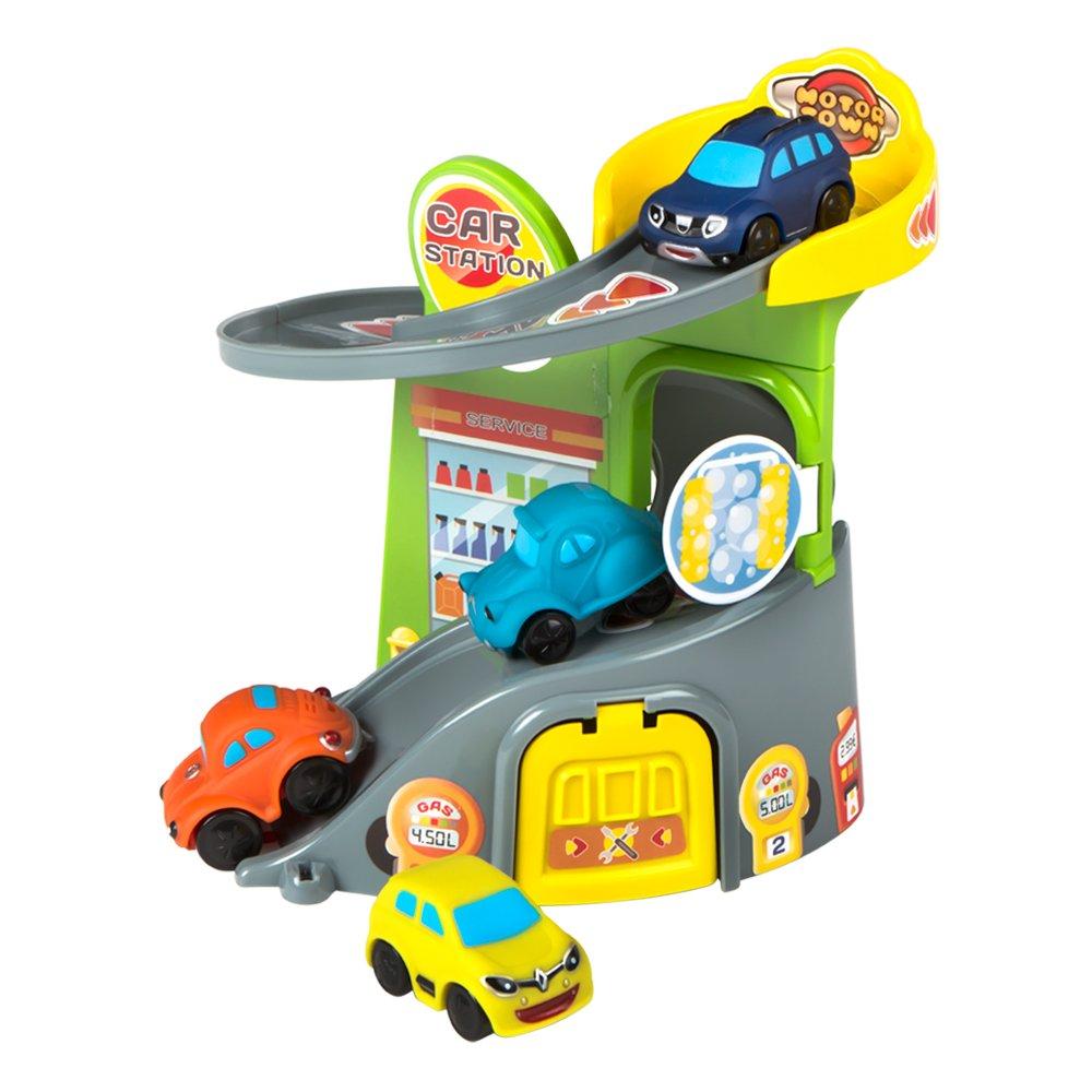 Garaje 4 Y Motor 43638 Juguete Cochescolorbaby De Town PkOnw0