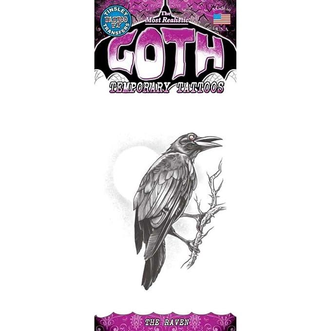 Tinsley Transfers tatuaje temporal, el cuervo: Amazon.es: Belleza