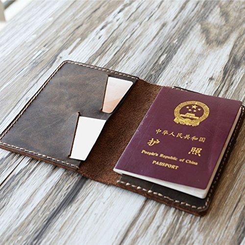 2d3f709d9031 Amazon.com: Personalized Premium Leather Travel Wallet - Passport ...