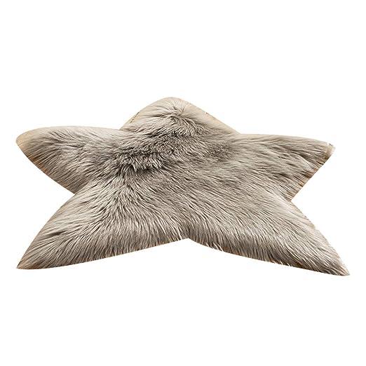 HshDUti - Alfombra en Forma de Estrella de Peluche, sofá del ...