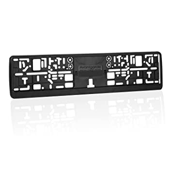 Elastic Flexible Black Number Plate Holder Licence Plate Surround ...