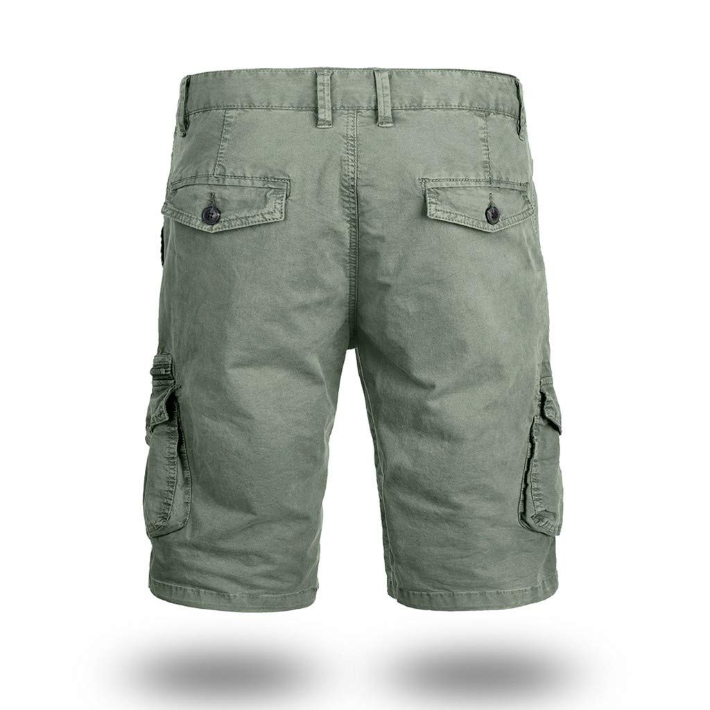 Mens Cargo Shorts,Donci Fashion Pocket Beach Work Casual Short Trouser Loose Comfortable Half Pants by Donci Pants (Image #3)