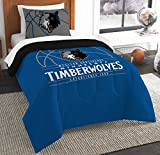 The Northwest Company Officially Licensed NBA Minnesota Timberwolves Reverse Slam Twin Comforter and Sham