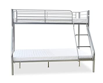 Triple Bunk Bed Metal Frame Children Kid Adult Sleeper Double