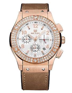 Reloj De Cuarzo Mujer Relojes De Cuero De Lujo De Lujo Señoras Populares Moda Reloj De
