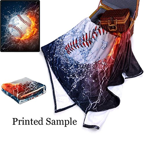 "QH Basketball Print Throw Blanket Comfort Design Home Decoration Fleece Blanket Perfect for Couch Sofa or Travelling 58"" x 80"" (4) delicate"