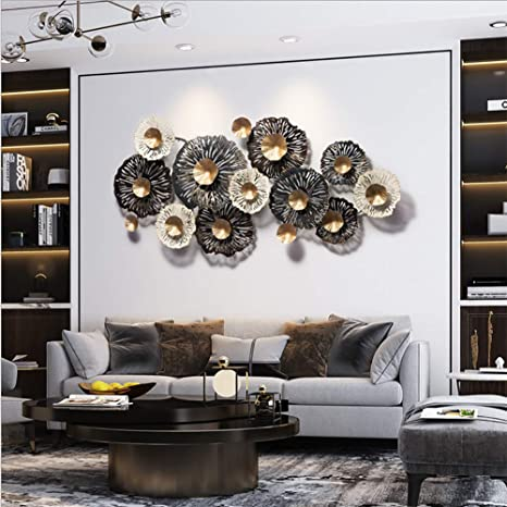 LTLH Métal Sculpture Art de Mur -Art décoratif décorations ...