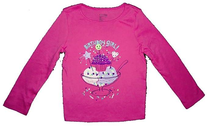0793135c3324 Amazon.com: Baby Gap Toddler Girls Pink Birthday Girl Glitter Shirt ...