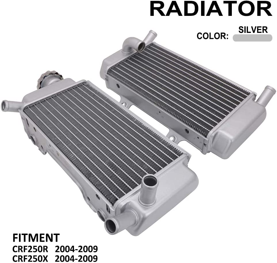 AnXin Radiator Aluminum Performance Fits For Honda CRF250R CRF250X 2004-2009 2005 2006 2007 2008 Motorcycle
