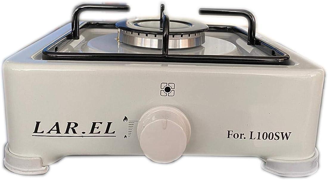 Hornillo a Gas larel de acampada 100sw 1 fuego con válvula de seguridad GLP o metano Cocina 700010857 de apoyo