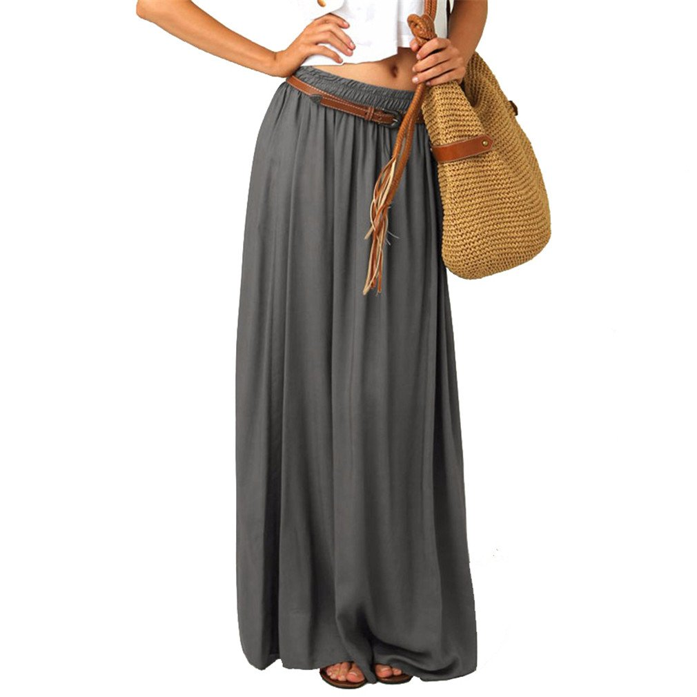 Beachfavora Plus Size Maxi Gray Top Quality Slim Skirt Long Lining Excellent Floor Length Gray hot XXXL