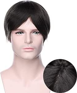 Pelucas Hombre Pelo Natural Prótesis Capilar 100% Remy Cabello ...