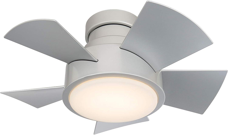 Titanium Silver Modern Forms FH-W1802-26L-27-TT Vox Flush Mount Ceiling Fan