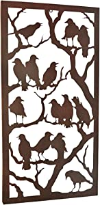 Design Toscano Night of the Ravens Wall Sculpture, 11 Inch, Antique Black Finish