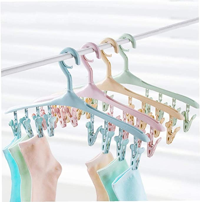 Pantalones lujiaoshout 8 Ganchos para los Dedos Percha de pl/ástico Perchas para Pantalones Cortos Bufandas y Uso Interior al Aire Libre Rosa 1Ponga Camisas