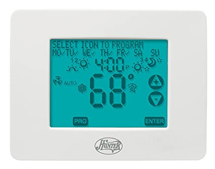 hunter 44860 universal 2h 2c touchscreen thermostat programmable rh amazon com hunter touchscreen thermostat manual 44905 Hunter Model 44860 Thermostat Touchscreen