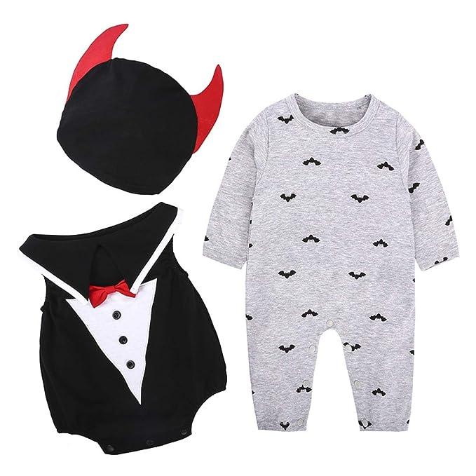 7ab146420 Amazon.com  Baby 3 Piece Suit Set Long Sleeve Slider + Vest + hat ...