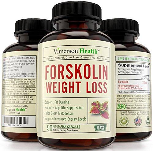 45 jours d'approvisionnement - 100 % Pure forskoline extrait pour l'extrême minceur - sans OGM, sans Gluten, 100 % tous les supplément naturel & végétarien - les meilleures pilules amaigrissantes qui travaillent rapidement pour les femmes et les homme