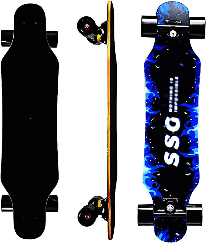 adults teenagers reliable sturdy beginners IILOOK Standard full skateboard 31x 8 inch long board for children smooth driving