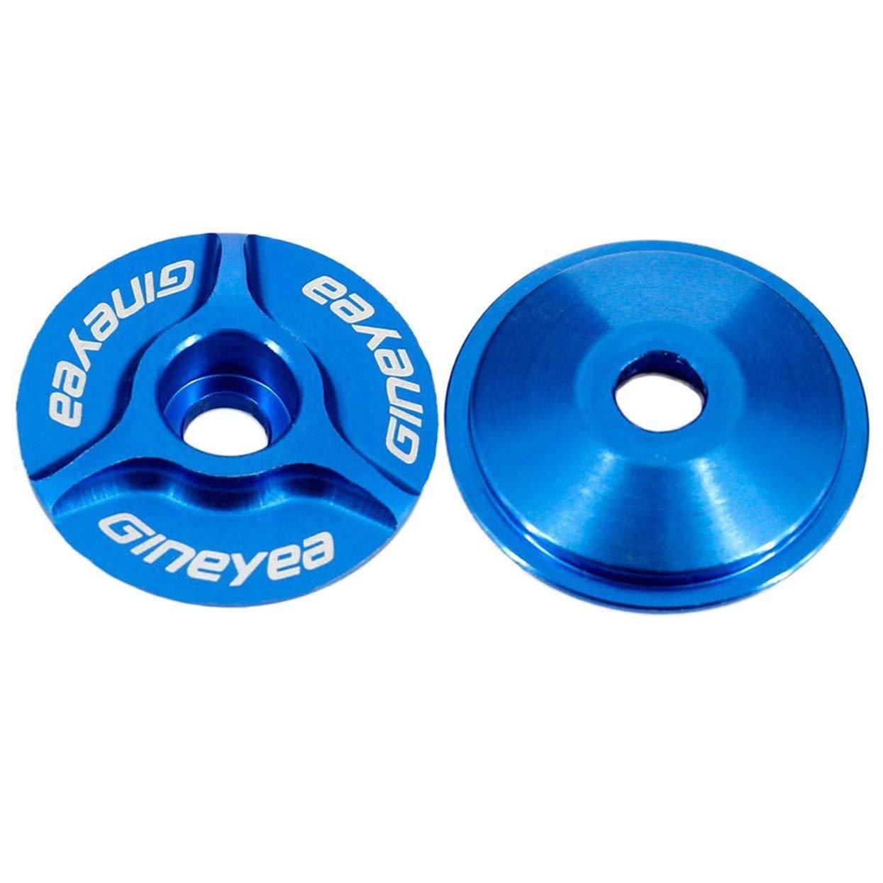 Blu 1pc Leggero Portatile in Alluminio 1 1//8 MTB Bike Stelo da Bici CNC Headset Top cap Cover Pratico e Resistente