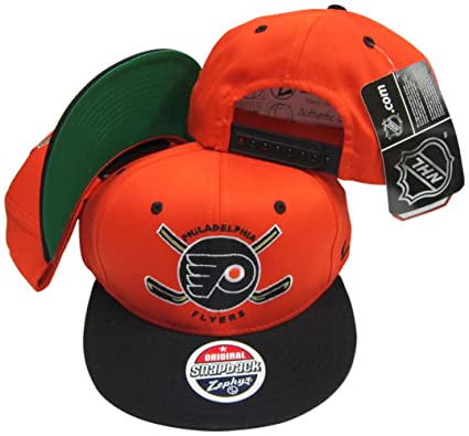 Image Unavailable. Image not available for. Color  ZHATS Philadelphia  Flyers Orange Black Two Tone Plastic Snapback Adjustable Plastic Snap Back  Hat  80ffed5a2368