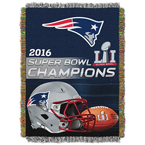 Patriots England Tapestry New (The Northwest Company Officially Licensed NFL New England Patriots Woven Tapestry Throw Blanket, 48